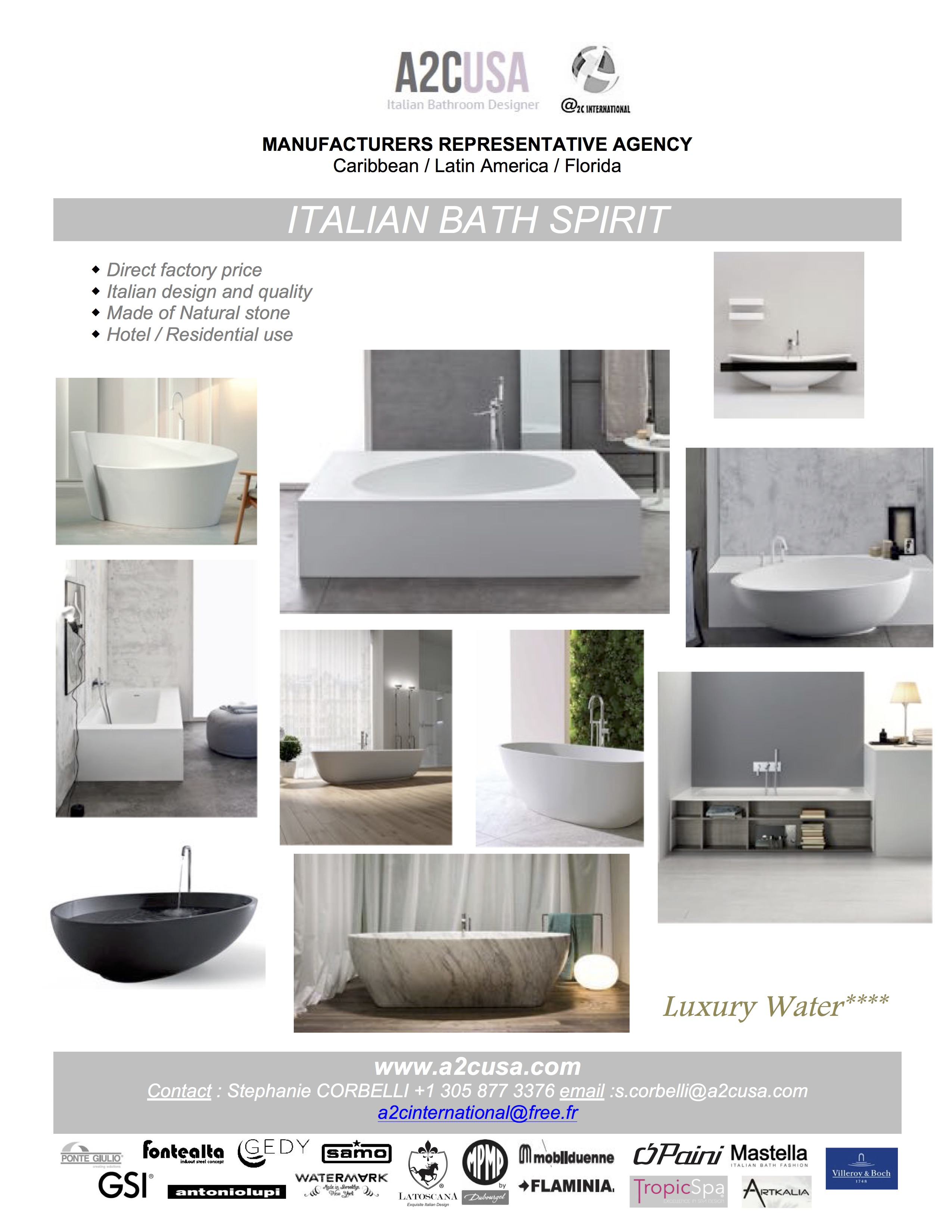 Italian Bathtubs A2C 2017 light